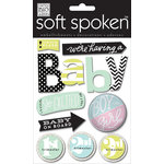 Me and My Big Ideas - Soft Spoken - 3 Dimensional Stickers - News Flash Baby