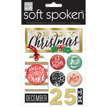 Me and My Big Ideas - Soft Spoken - Christmas - 3 Dimensional Stickers - Be Merry