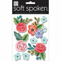 Me and My Big Ideas - Soft Spoken - 3 Dimensional Stickers - Painted Flowers