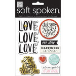 Me and My Big Ideas - Soft Spoken - 3 Dimensional Stickers - Love Love Love
