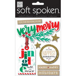Me and My Big Ideas - Soft Spoken - Christmas - 3 Dimensional Stickers - Very Merry Holiday
