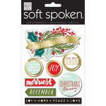 Me and My Big Ideas - Soft Spoken - Christmas - 3 Dimensional Stickers - Merriest Holiday