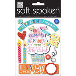 Me and My Big Ideas - Soft Spoken - 3 Dimensional Stickers - Cupcake - Birthday