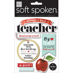 Me and My Big Ideas - Soft Spoken - 3 Dimensional Stickers - Teacher Apple