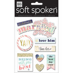 Me and My Big Ideas - Soft Spoken - 3 Dimensional Stickers - Married with Glitter and Foil Accents