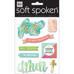 Me and My Big Ideas - Soft Spoken - 3 Dimensional Stickers - Faith Can Move Mountains with Foil Accents