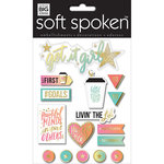 Me and My Big Ideas - Soft Spoken - 3 Dimensional Stickers - Get it Girl with Glitter and Foil Accents