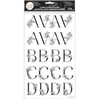 Me And My Big Ideas - Alphabet Stickers - Large Icon - Sophisticated Florals Black