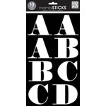 Me and My Big Ideas - MAMBI Sticks - Large Alphabet Stickers - Faith - White with Black Insert