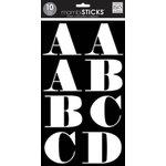 Me and My Big Ideas - MAMBI Sticks - Large Alphabet Stickers - Faith - White with Black Insert