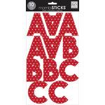Me and My Big Ideas - MAMBI Sticks - Large Alphabet Stickers - Tara - Red - Stars