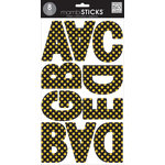 Me and My Big Ideas - MAMBI Sticks - Large Alphabet Stickers - Black with Gold Glitter Dots