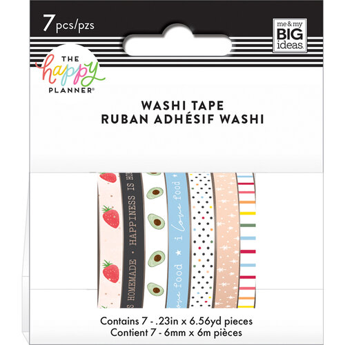 Me and My Big Ideas - Happy Planner Collection - Planner - Washi Tape - Recipe