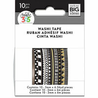 Me and My Big Ideas - Create 365 Collection - Planner - Mini Washi Tape - Black and White with Foil Accents