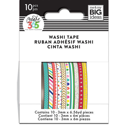Me and My Big Ideas - Create 365 Collection - Planner - Mini Washi Tape - Brights with Foil and Glitter Accents