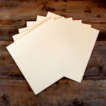 My Colors Cardstock - My Minds Eye - 12 x 12 Classic Cardstock Pack - Smooth Finish - Ivory