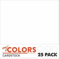 My Colors Cardstock - My Minds Eye - 12 x 12 Classic Cardstock Pack - White - 25 Pack