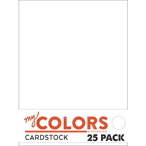 My Colors Cardstock - My Minds Eye - 8.5 x 11 Classic Cardstock Pack - White