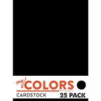 My Colors Cardstock - My Minds Eye - 8.5 x 11 Classic Cardstock Pack - New Black - 25 Pack