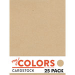 My Colors Cardstock - My Minds Eye - 8.5 x 11 Classic Cardstock Pack - Kraft