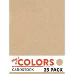 My Colors Cardstock - My Mind's Eye - 8.5 x 11 Classic Cardstock Pack - Kraft