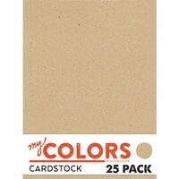My Colors Cardstock - My Minds Eye - 8.5 x 11 Classic Cardstock Pack - Kraft - 25 Pack