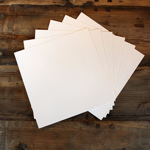 My Colors Cardstock - My Minds Eye - 12 x 12 Heavyweight Cardstock Pack - Smooth Finish - White Smoke - 18 Pack
