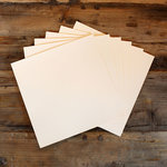 My Colors Cardstock - My Minds Eye - 12 x 12 Heavyweight Cardstock Pack - Smooth Finish - Whitewash
