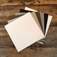 My Colors Cardstock - My Minds Eye - 12 x 12 Heavyweight Cardstock Pack - Smooth Finish - Neutral Colors - 18 Pack
