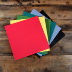 My Colors Cardstock - My Minds Eye - 12 x 12 Heavyweight Cardstock Pack - Smooth Finish - Dark Colors 1