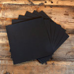 My Colors Cardstock - My Minds Eye - 12 x 12 Canvas Cardstock Pack - Black Magic