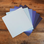 My Colors Cardstock - My Minds Eye - 12 x 12 Canvas Cardstock Pack - Blue Tones