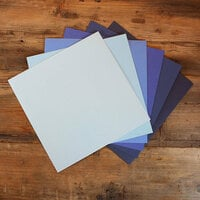 My Colors Cardstock - My Minds Eye - 12 x 12 Canvas Cardstock Pack - Blue Tones - 18 Pack