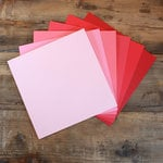 My Colors Cardstock - My Minds Eye - 12 x 12 Canvas Cardstock Pack - Pink and Red Tones