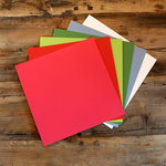 My Colors Cardstock - My Minds Eye - 12 x 12 Heavyweight Cardstock Pack - Smooth Finish - Holiday Colors