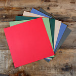 My Colors Cardstock - My Minds Eye - 12 x 12 Canvas Cardstock Pack - Holiday Colors 2