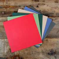 My Colors Cardstock - My Minds Eye - 12 x 12 Canvas Cardstock Pack - Holiday Colors 2 - 18 Pack