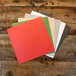 My Colors Cardstock - My Minds Eye - 12 x 12 Glimmer Cardstock Pack - Holiday Colors