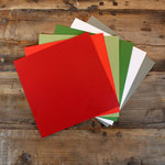 My Colors Cardstock - My Minds Eye - 12 x 12 Mini Dot Cardstock Pack - Holiday