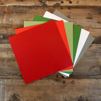 My Colors Cardstock - My Minds Eye - 12 x 12 Mini Dot Cardstock Pack - Holiday - 18 Pack