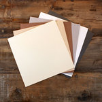 My Colors Cardstock - My Minds Eye - 12 x 12 Glimmer Cardstock Pack - Elegant