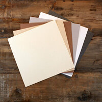 My Colors Cardstock - My Minds Eye - 12 x 12 Glimmer Cardstock Pack - Elegant - 18 Pack