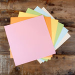 My Colors Cardstock - My Minds Eye - 12 x 12 Glimmer Cardstock Pack - Pastels
