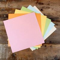 My Colors Cardstock - My Minds Eye - 12 x 12 Glimmer Cardstock Pack - Pastels - 18 Pack