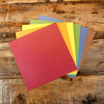 My Colors Cardstock - My Minds Eye - 12 x 12 Glimmer Cardstock Pack - Primary