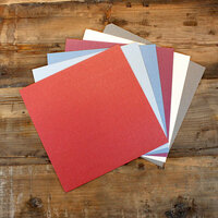 My Colors Cardstock - My Minds Eye - 12 x 12 Glimmer Cardstock Pack - Historic - 18 Pack