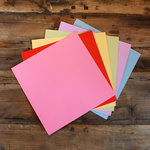 My Colors Cardstock - My Minds Eye - 12 x 12 Mini Dot Cardstock Pack - Light Colors
