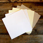 My Colors Cardstock - My Minds Eye - 12 x 12 Classic Cardstock Pack - Smooth Finish - Neutral