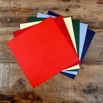 My Colors Cardstock - My Minds Eye - 12 x 12 Classic Cardstock Pack - Smooth Finish - Multicolor