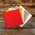 My Colors Cardstock - My Minds Eye - 12 x 12 Heavyweight Cardstock Pack - Smooth Finish - Light Colors 2